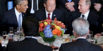 De intermediario estaba el secretario general de la ONU, Ban Ki-moon. Foto:AFP