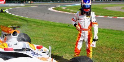Sólo corrió 7 carreras con Renault. Foto:Getty Images