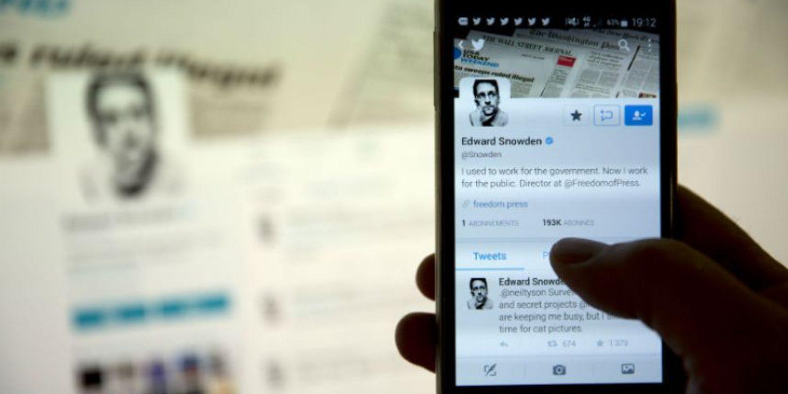 """Y hasta ahora abrió su cuenta de Twitter con la que ha """"agredido a la NSA"""". Foto:AFP"""