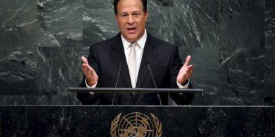 """""""Panamá no escapa de los flujos migratorios irregulares de seres huamnos escapando de la guerra y buscando un mejor futuro"""", dijo en su intervención en el pleno. Foto:AFP"""