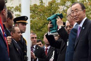 También la encabezó el presidente de la autoridad palestina, Mahmud Abás Foto:AFP