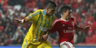 El volante anotó su primer gol en la edición 205/16 jugando para Astana y enfrentando al Galatasaray. Foto:Getty Images