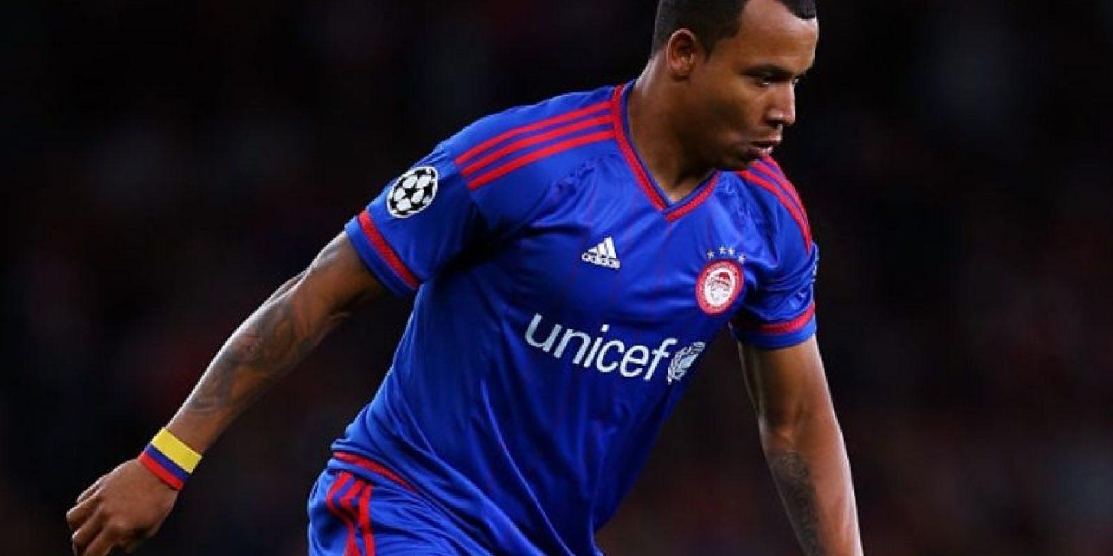 El jugador que pasó por varios clubes de Colombia y Portugal debutó en las redes de la competencia europea con la camiseta del Olympiacos en la temporada 2015/16. Foto:Getty Images