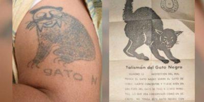 Alias Pijarbey tenía este tatuaje a modo de talismán. Foto:Policía