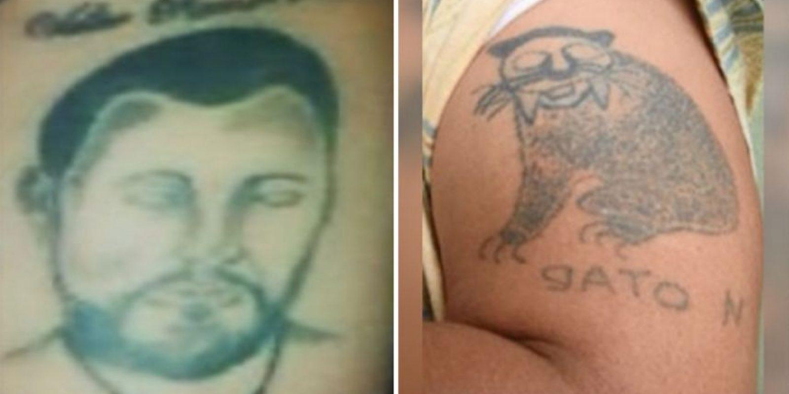 Los tatuajes de los narcos colombianos y su significado. Foto:Policía