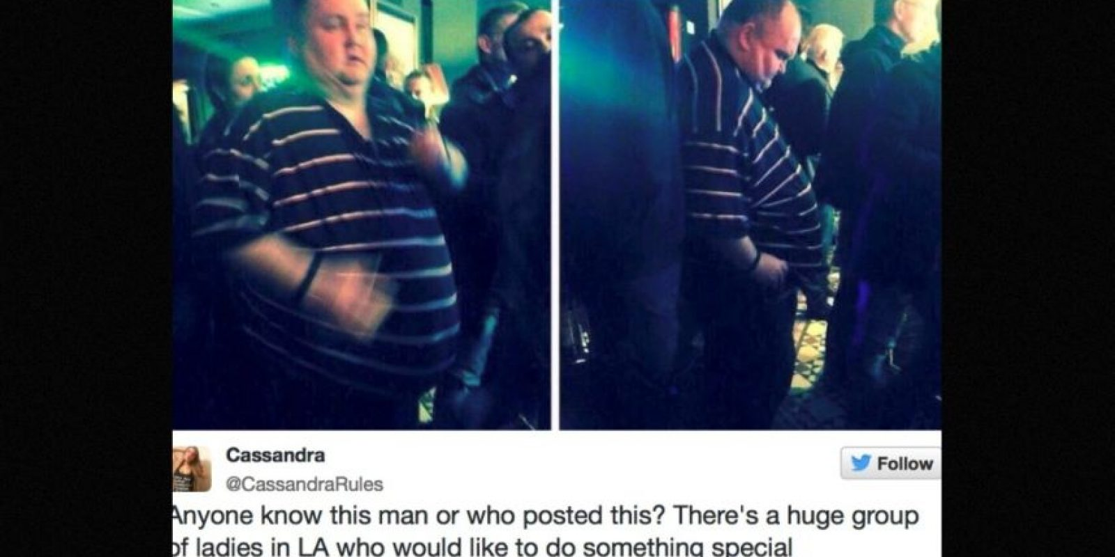 En sitios como 4Chan, usuarios de redes sociales se burlaron de este hombre por ser gordo y querer bailar Foto:Twitter.com – Archivo