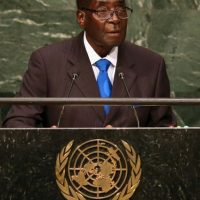 Robert Mugabe, presidente de Zimbabwe, 2015 Foto:Getty Images