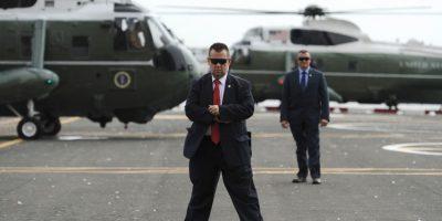 Equipo de seguridad de los Obama a su salida de Nueva York. Foto:Getty Images
