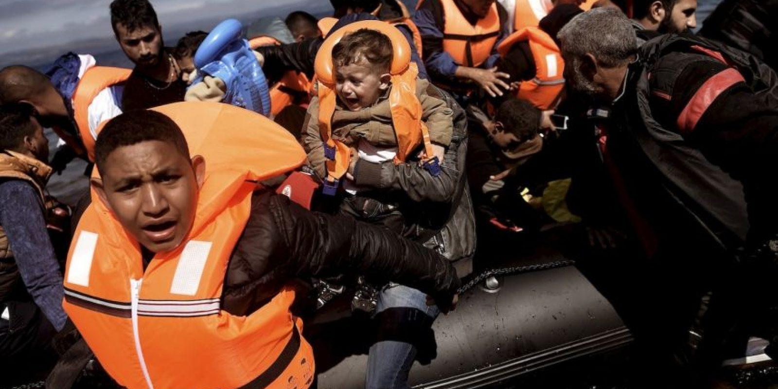 1. Un total de 526 mil 577personas han llegado este año a Europa a través del Mediterráneo. Foto:AFP