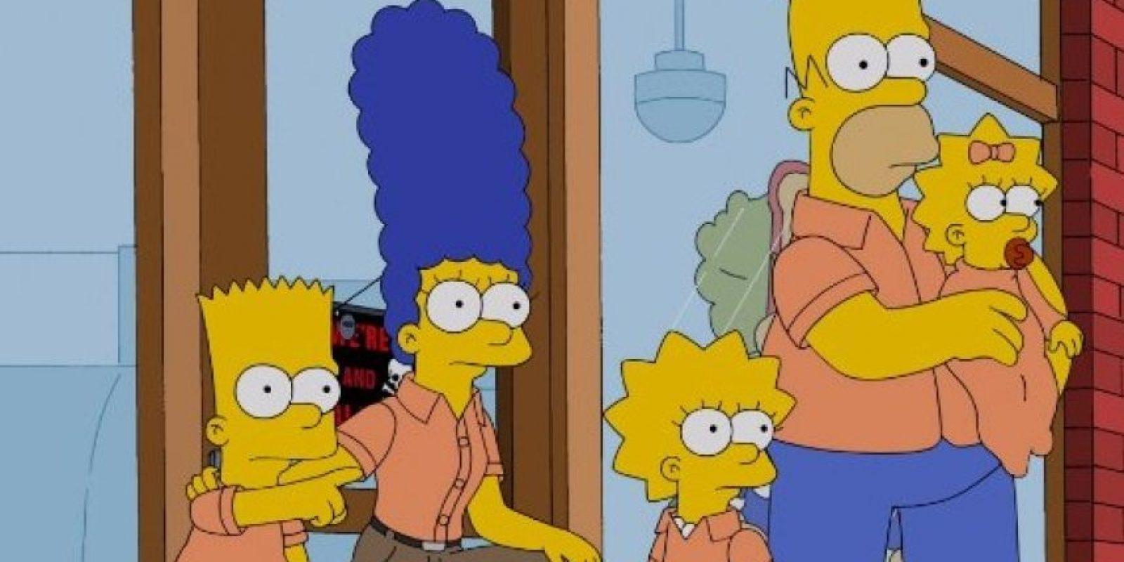 """Los integrantes de la familia son """"Homer"""", """"Marge"""", """"Bart"""", """"Lisa"""" y """"Maggie Simpson"""". Foto:20th Century Fox"""