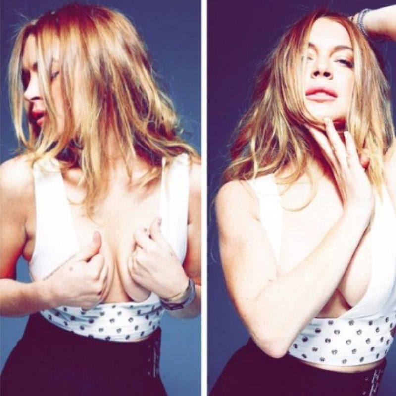 En Instagram, la actriz ha presumido escotes como este… Foto:vía instagram.com/lindsaylohan