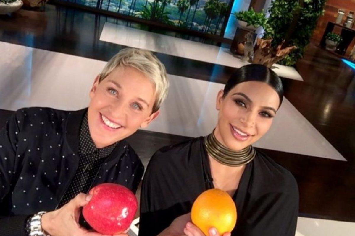 Kim Kardashian fue una de las invitadas del programa de Ellen DeGeneres Foto:Instagram/theellenshow