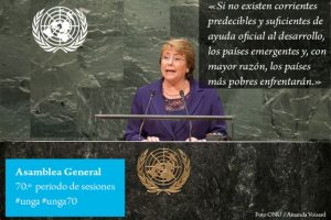 Michelle Bachelet, presidenta de Chile Foto:Twitter.com/ONU_es
