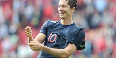 Lewandoski lleva marcados 10 goles en una semana. Foto:Getty Images