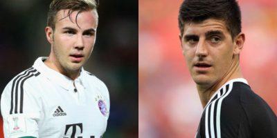 Mario Götze y Thibaut Courtois – El portero del Chelsea tiene sólo 23 años, pero sus rasgos faciales lo hacen lucir más grande. Foto:Getty Images