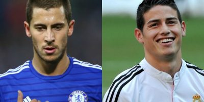 Eden Hazard y James Rodríguez – Ambos son de los futbolistas jóvenes más talentosos de la actualidad, aunque Hazard luce más viejo que James. Eso sí, ambos tienen 24 años. Foto:Getty Images