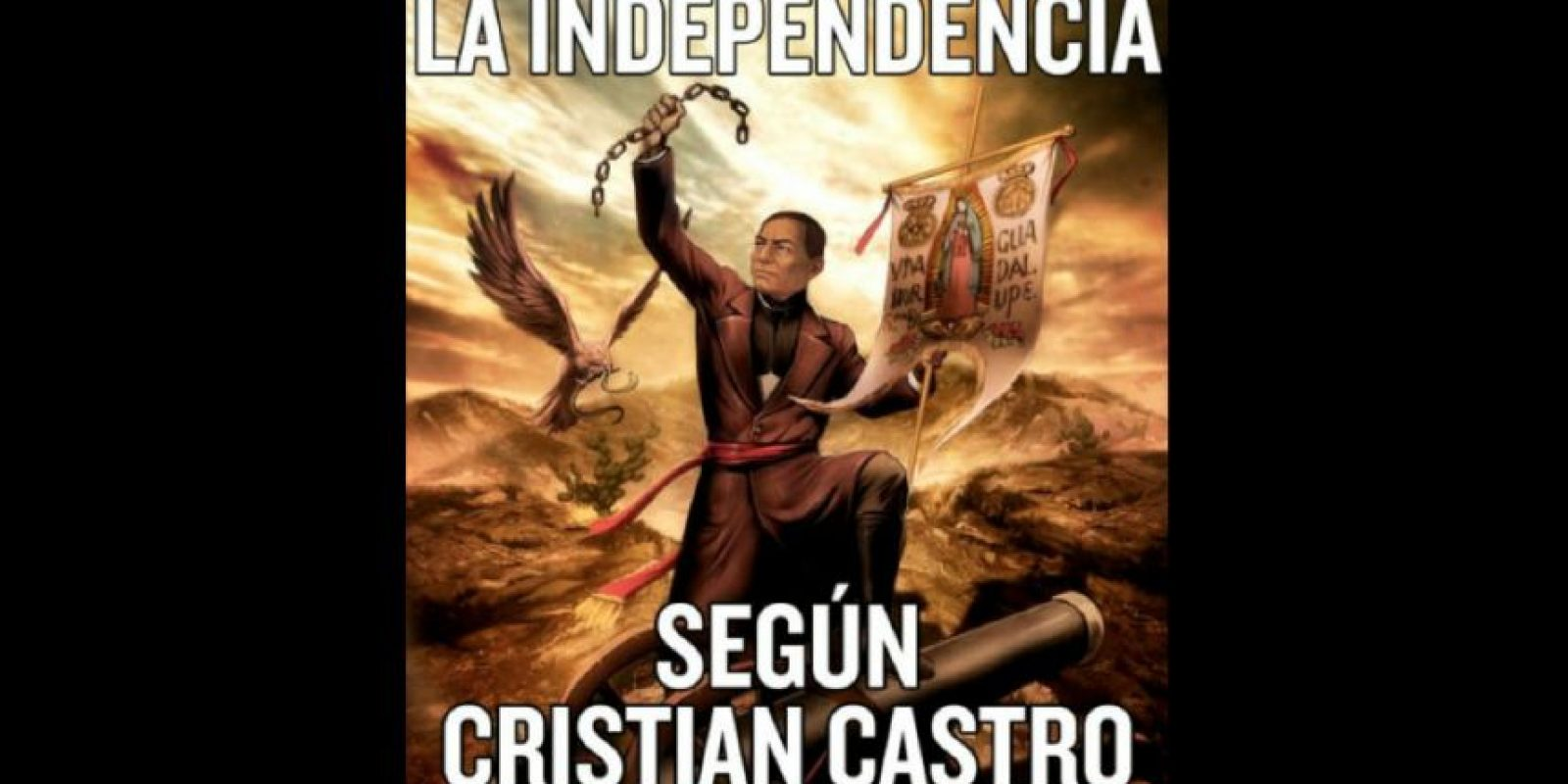 El cantante mencionó que Benito Juárez, un abogado, político y presidente mexicano había participado en la Independencia de México, aunque este personaje no participó en esta época de la historia de dicho país. Foto:vía twitter.com/cristiancastro