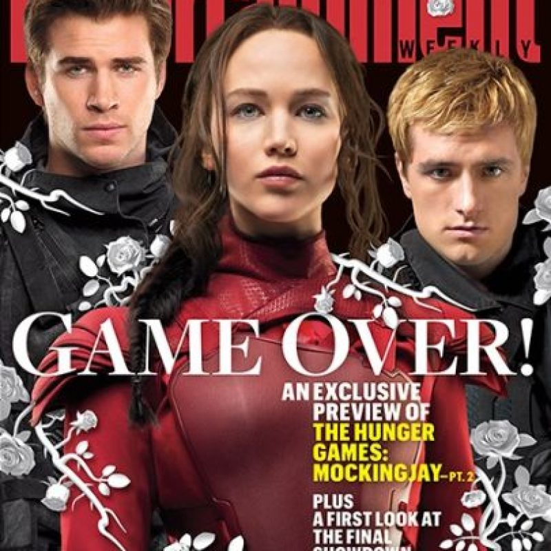"""Gale Hawthorne"", ""Katniss Everdeen"" y ""Peeta Melllark"" Foto: ""Entertainment Weekly"""