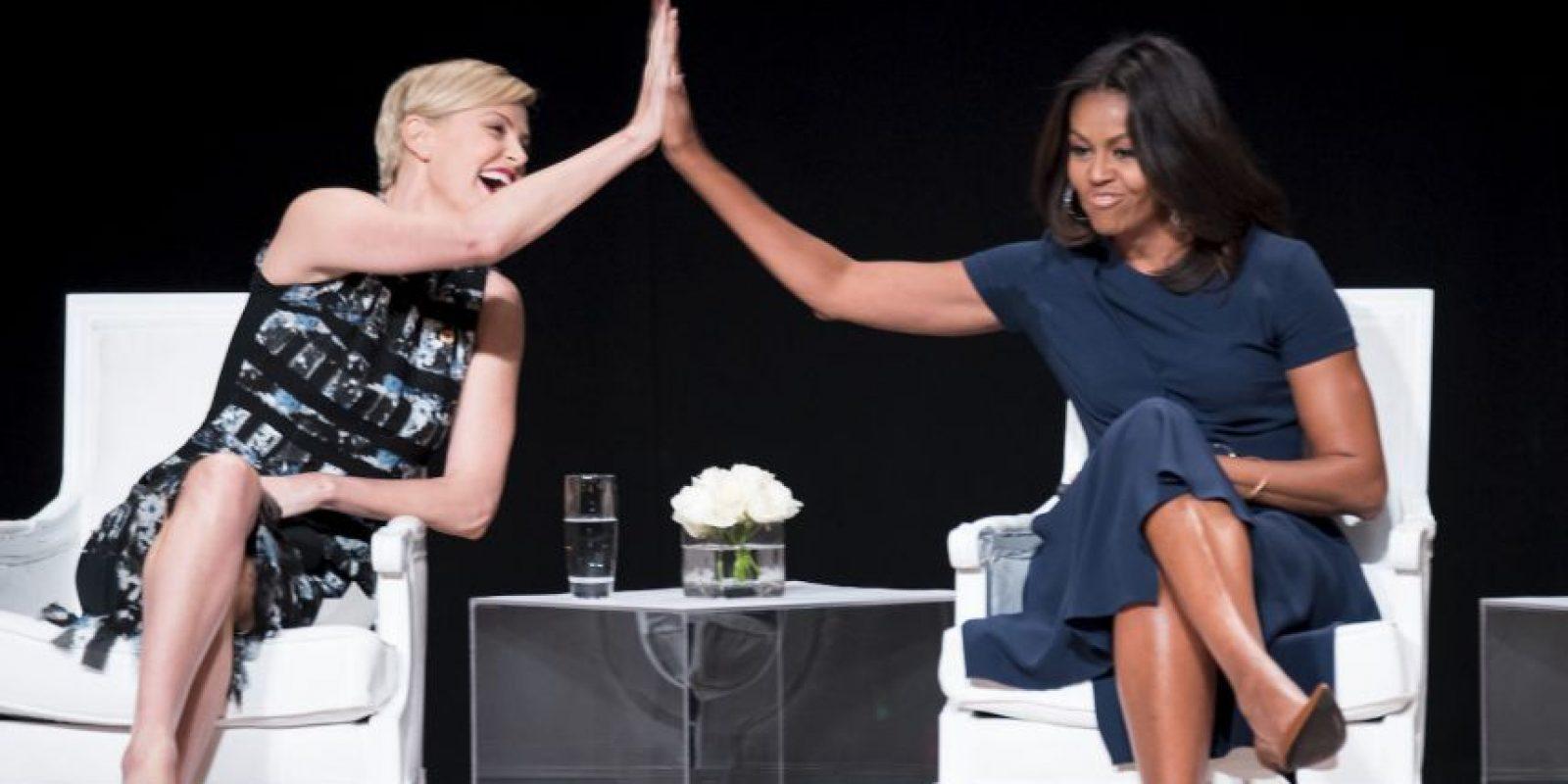 Porque ella hizo eso y gracias a eso está casada con el que ahora es el presidente del país, Barack Obama. Foto:Getty Images
