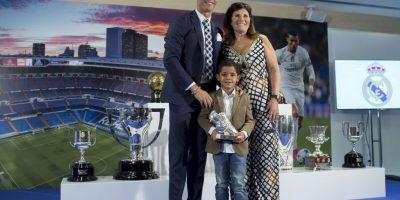 """""""Agradezco al presidente Florentino Pérez por este acto tan bonito y ¡Hala Madrid! Foto:Getty Images"""