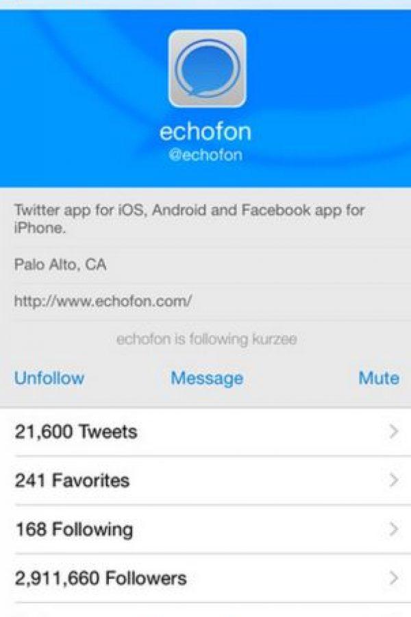 Está disponible para Android, iOS y Mac Foto:Echofon