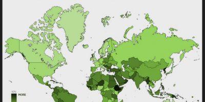 Intensidad de tráfico de los usuarios de Android. Foto:Porhub