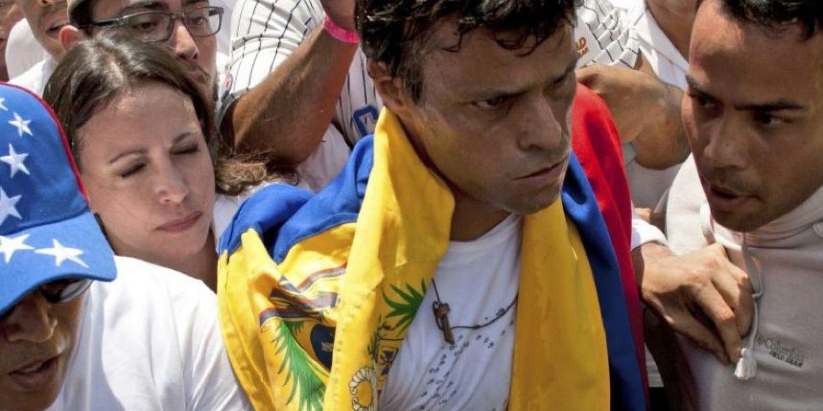 López fue condenado a 13 años de prisión por los hechos violentos durante una manifestación contra el gobierno realizada el 12 de febrero. Foto:AP