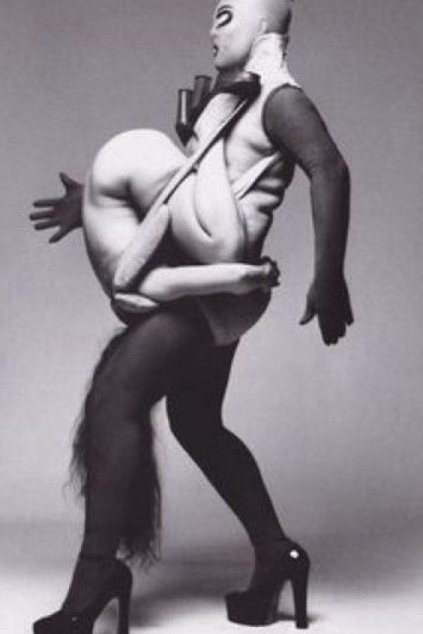 Se inspiró en un performance de Leigh Bowery. Foto:vía Pinterest