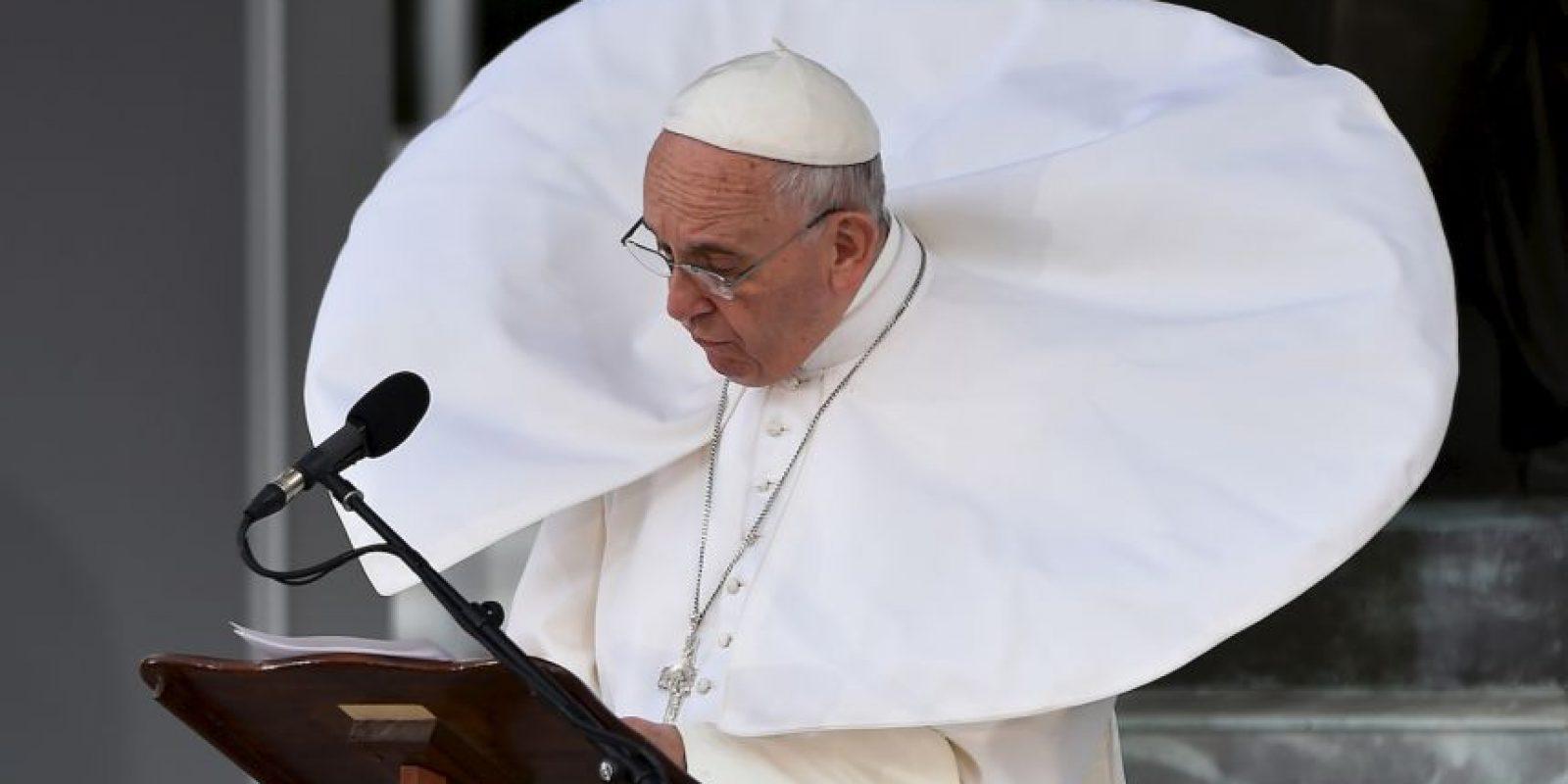 El papa Francisco habla durante si visita a Filadelfia, Estados Unidos. Foto:AFP