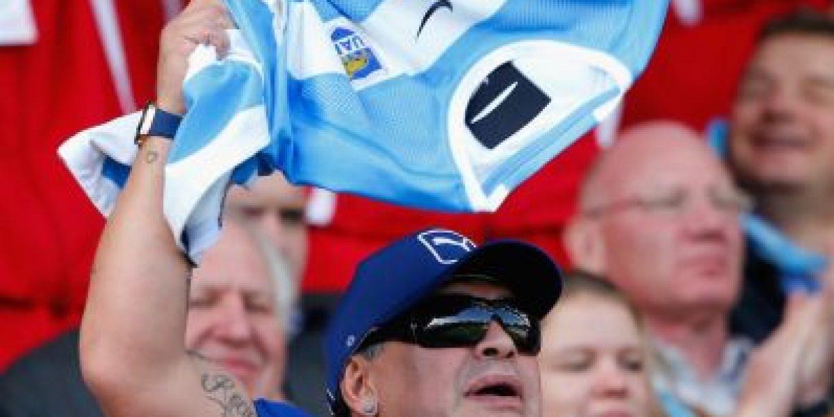 Fotos: Diego Maradona demuestra que también es fanático del rugby