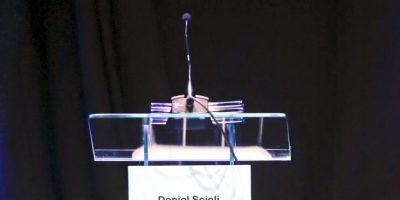 El candidato del Frente para la Victoria, el partido en el gobierno, Daniel Scioli, no se presentó a debatir. Foto:AP