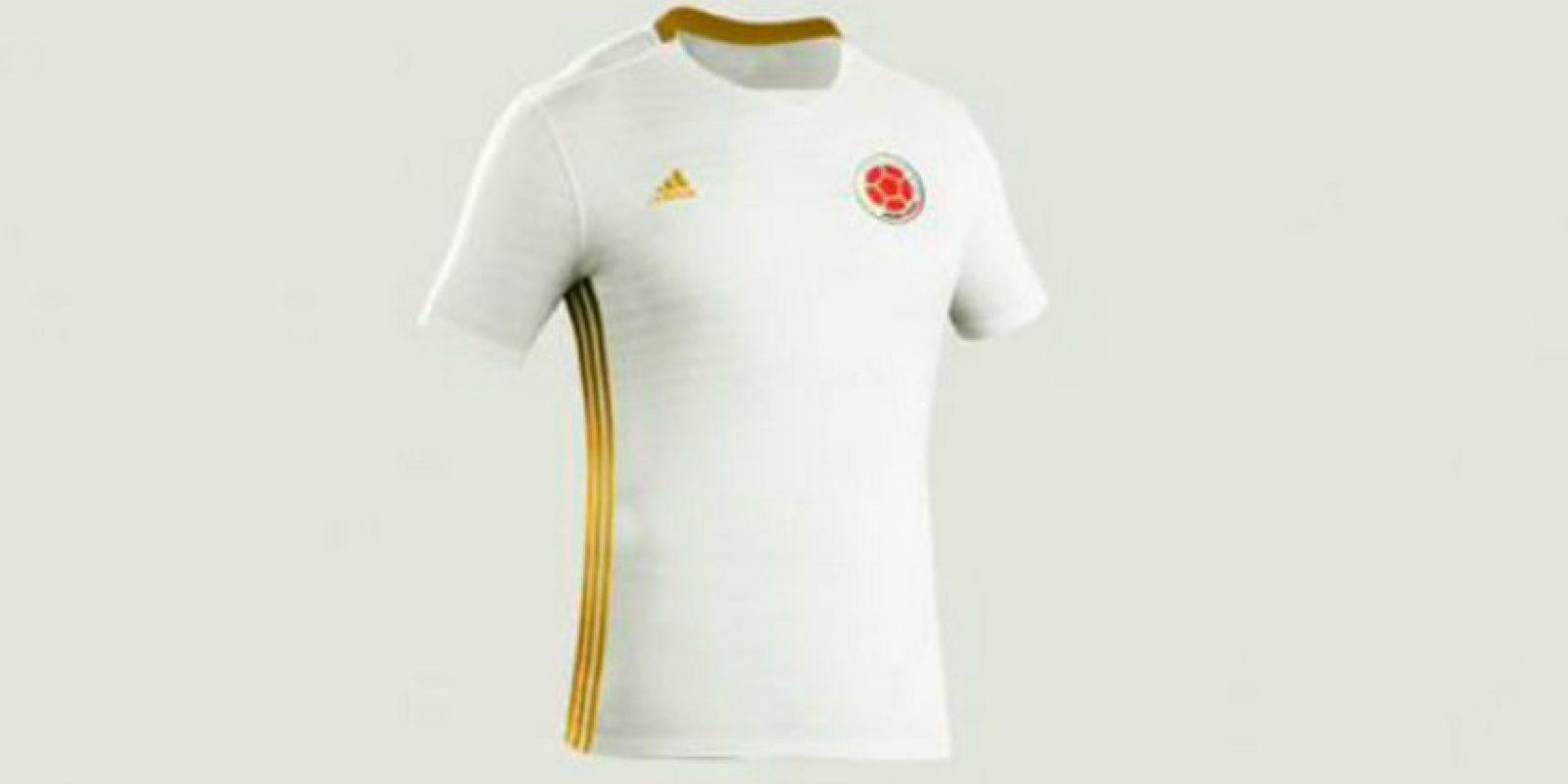 Camiseta blanca para la selección Colombia en 2016  e185987a3e41c