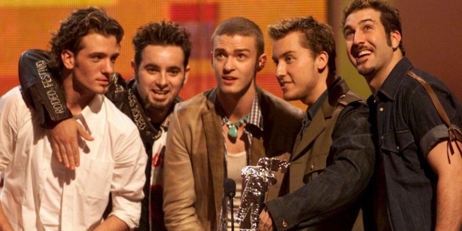 Justin Timberlake, Chris Kirkpatrick, Joey Fatone, Lance Bass y JC Chasez. Lynn Harless, madre de Justin, fue quien tuvo la idea del acrónimo. Foto:Getty Images