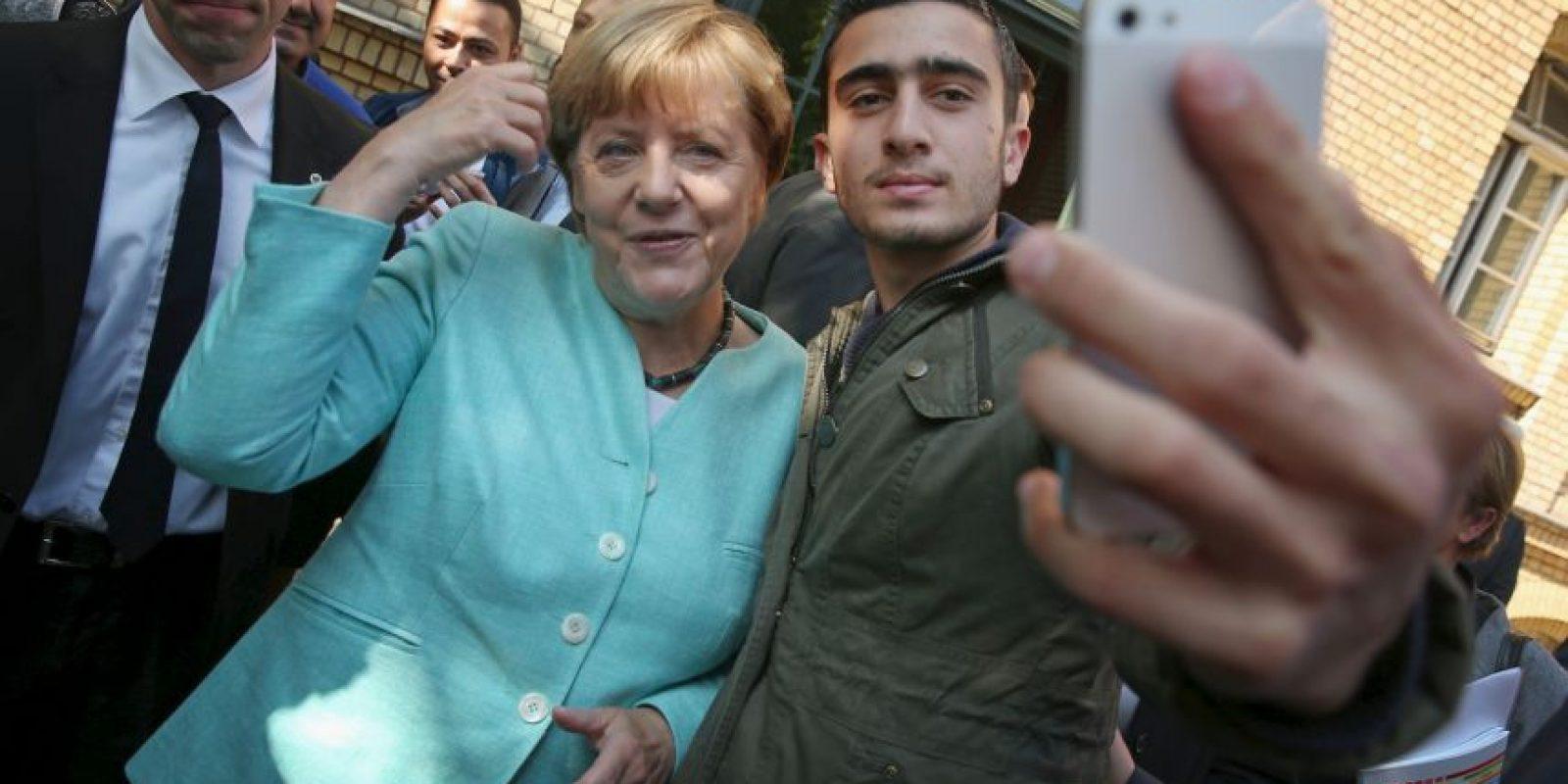 Angela Merkel, candidata por su respuesta a la crisis de refugiados Foto:Getty Images