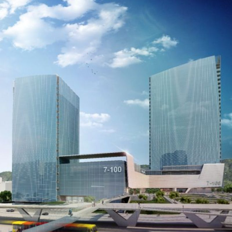 El proyecto El Pedregal tendrá tres torres deo ficinas y una estación de 10.000 metros cuadrados para SITP Foto:Cortesía TransMilenio