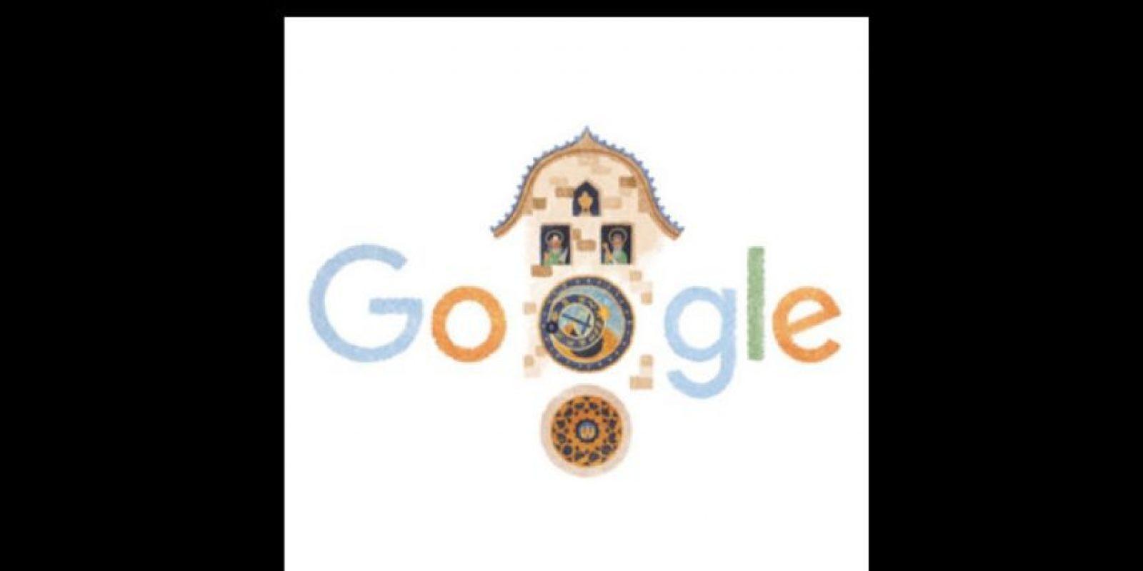 Debido a sus 605 años, el buscador lo representó en su página principal. Foto:Vía Google