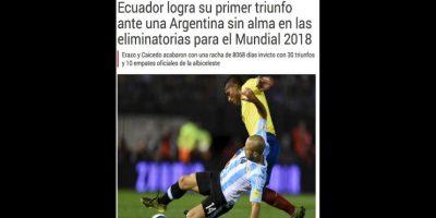 """""""Sport"""" de España también mencionó que la """"Albiceleste"""" jugó sin """"alma"""" Foto:Sport"""