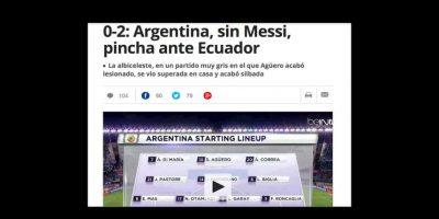 """Mundo deportivo"" recordó la ausencia de Messi Foto:Mundo Deportivo"