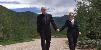 La pareja presidencial en Aspen, Colorado, en julio de 1999. Foto:Getty Images
