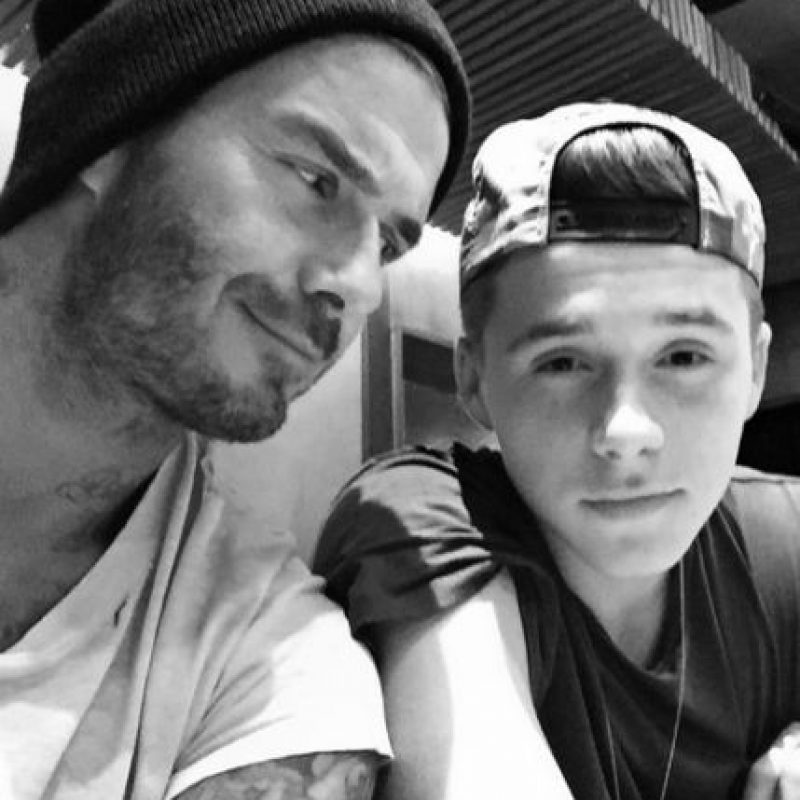 David Beckham y Brooklyn. Foto: Instagram/brooklynbeckham