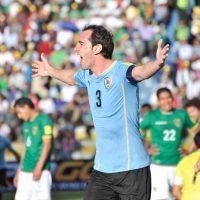 Los anotadores fueron Martín Cáceres y Diego Godín. Foto:Getty Images