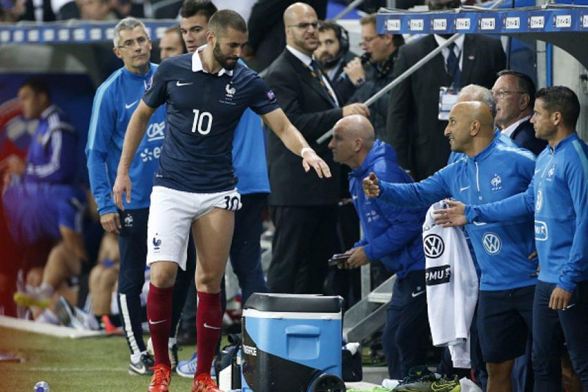 El atacante francés anotó un doblete en el amistoso entre Francia y Armenia (que terminó 4-0), pero al final del encuentro se marchó por una lesión de grado 1 de los isquiotibiales en la pierna izquierda. Foto:Getty Images
