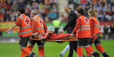 """Se lesionó durante el partido contra Luxemburgo y aunque primero se habló de una fractura en la pierna derecha, Juventus indicó que sólo era un """"traumatismo"""" y que el jugador iba a volver a las canchas pronto. Foto:Getty Images"""