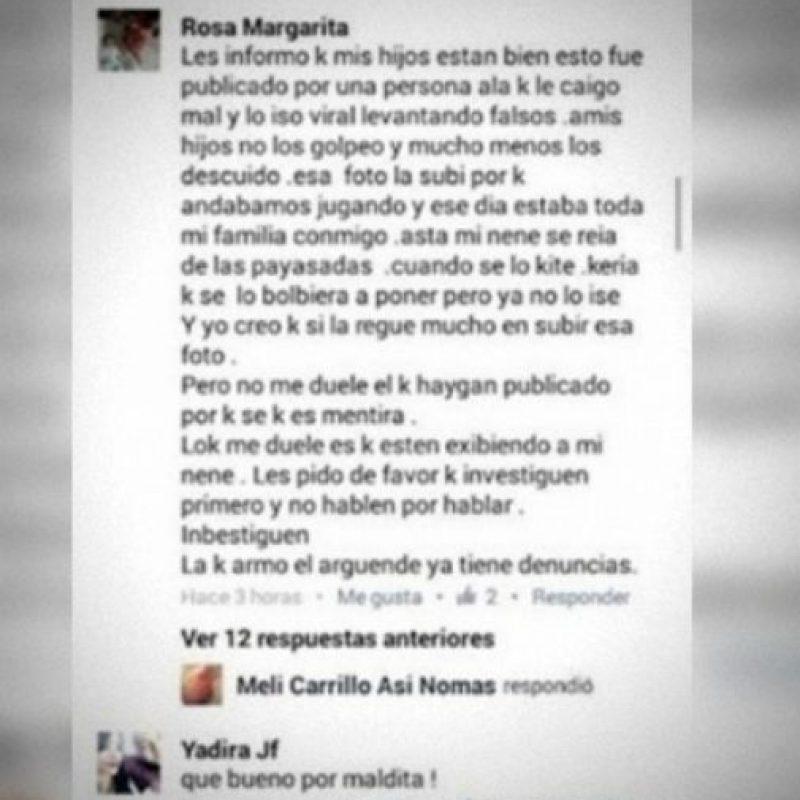 Este fue el post que hizo luego de haber cometido el error de mostrar a su hijo así en redes. Foto:Vía Facebook