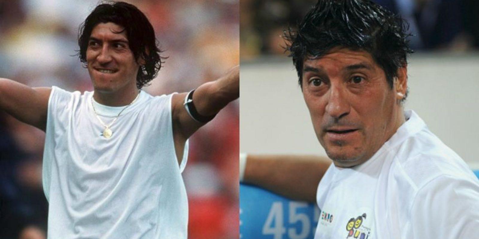 Iván Zamorano: A sus 48 años se dedica a atender negocios personales en Chile. Como futbolista jugó en el Real Madrid e Inter de Milán, principalmente, y se retiró en 2003. Foto:Getty Images
