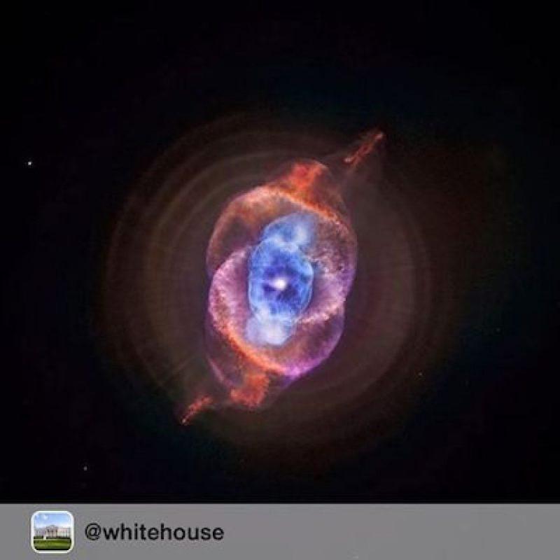 """Una nébula """"ojo de gato"""" captada por el telescopio Chandra y por el radiotelescopio Hubble Foto:Instagram.com/NASA"""