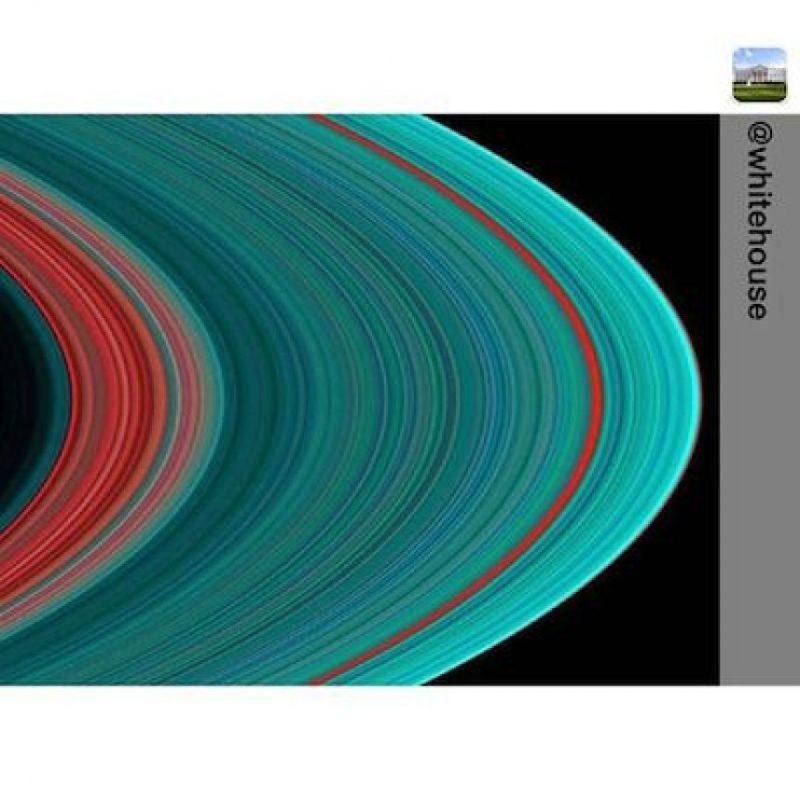 Los anillos de Saturno captados con una cámara ultravioleta Foto:Instagram.com/NASA
