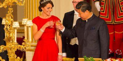 Esta es la tercera vez que luce una tiara en público. Foto:Getty Images