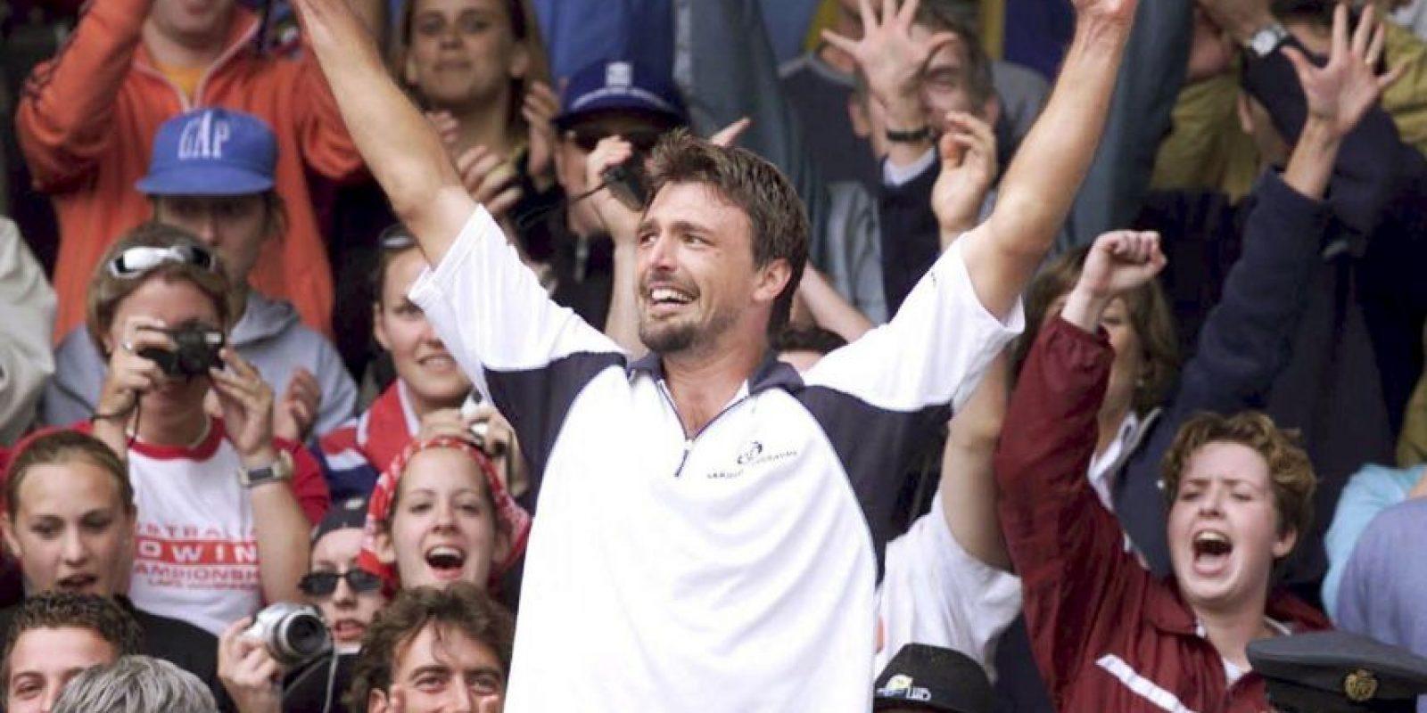 En el 2001, el croata se coronó en el Abierto de Wimbledon, siendo el 125 del mundo Foto:Getty Images