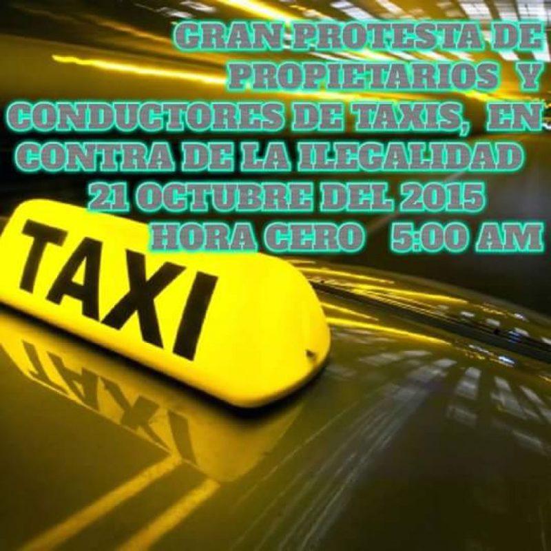 Los mensajes indican que desde las 5 de la mañana irían los bloqueos Foto:Facebook – Taxis Tuning bogota